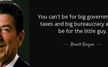 Reagan-quote-you-can-t-be-for-big-government-big-taxes-and-big-bureaucracy-and-still-be-for-the-little-ronald-reagan